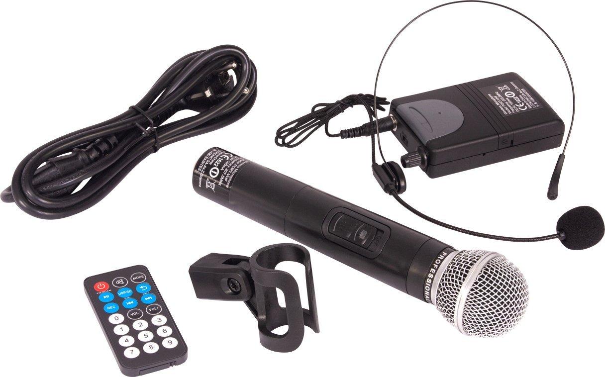 Ibiza PORT12VHF-BT Sonorisation portable 12 USB//SD//AUX//MP3//Bluetooth Noir