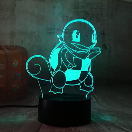 sanzangtang LED Night Light 3D-Vision-Seven Colors-Remote Control ...