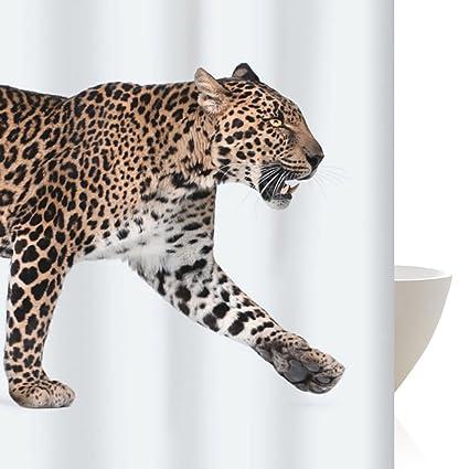 Amazon ZGP Bathroom Decoration Cheetah Shower Curtain