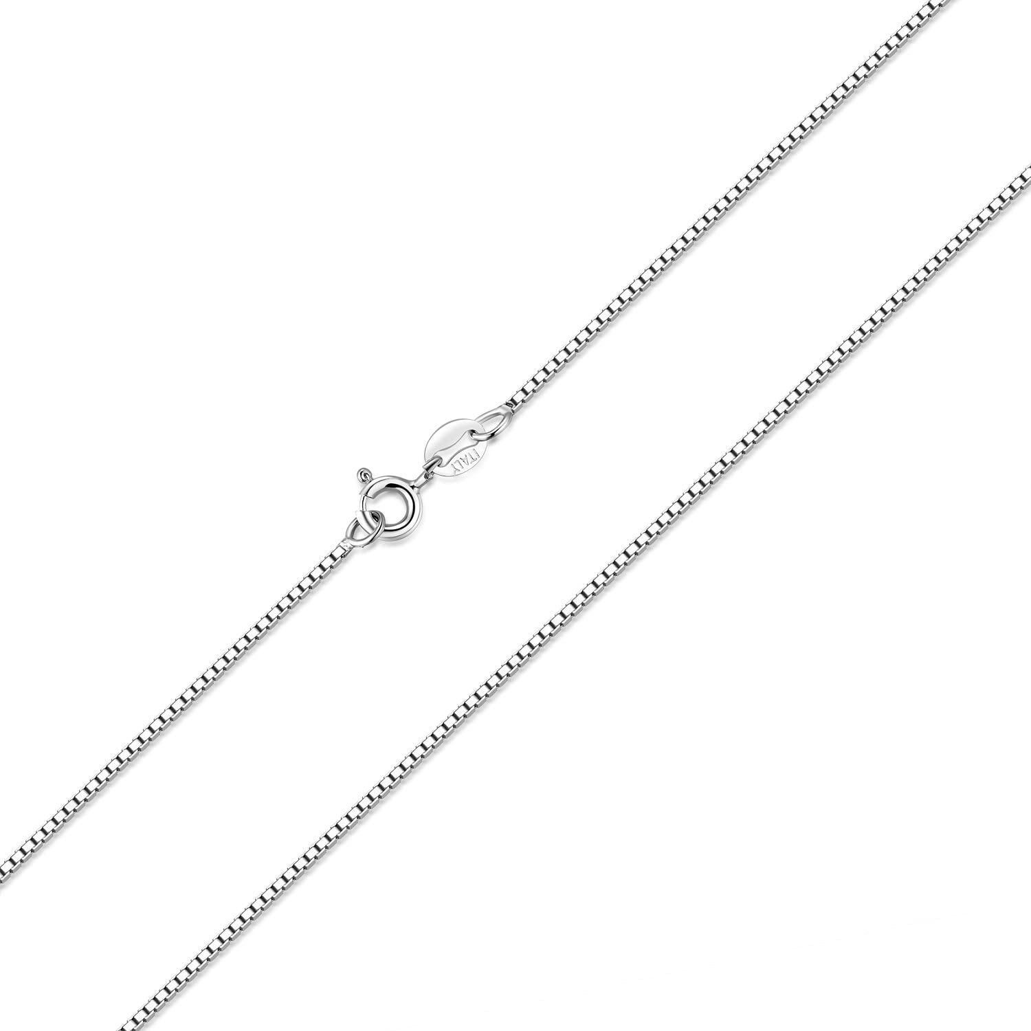 Sterling Silver Girls .8mm Box Chain #1 NIECE Word Pendant Necklace