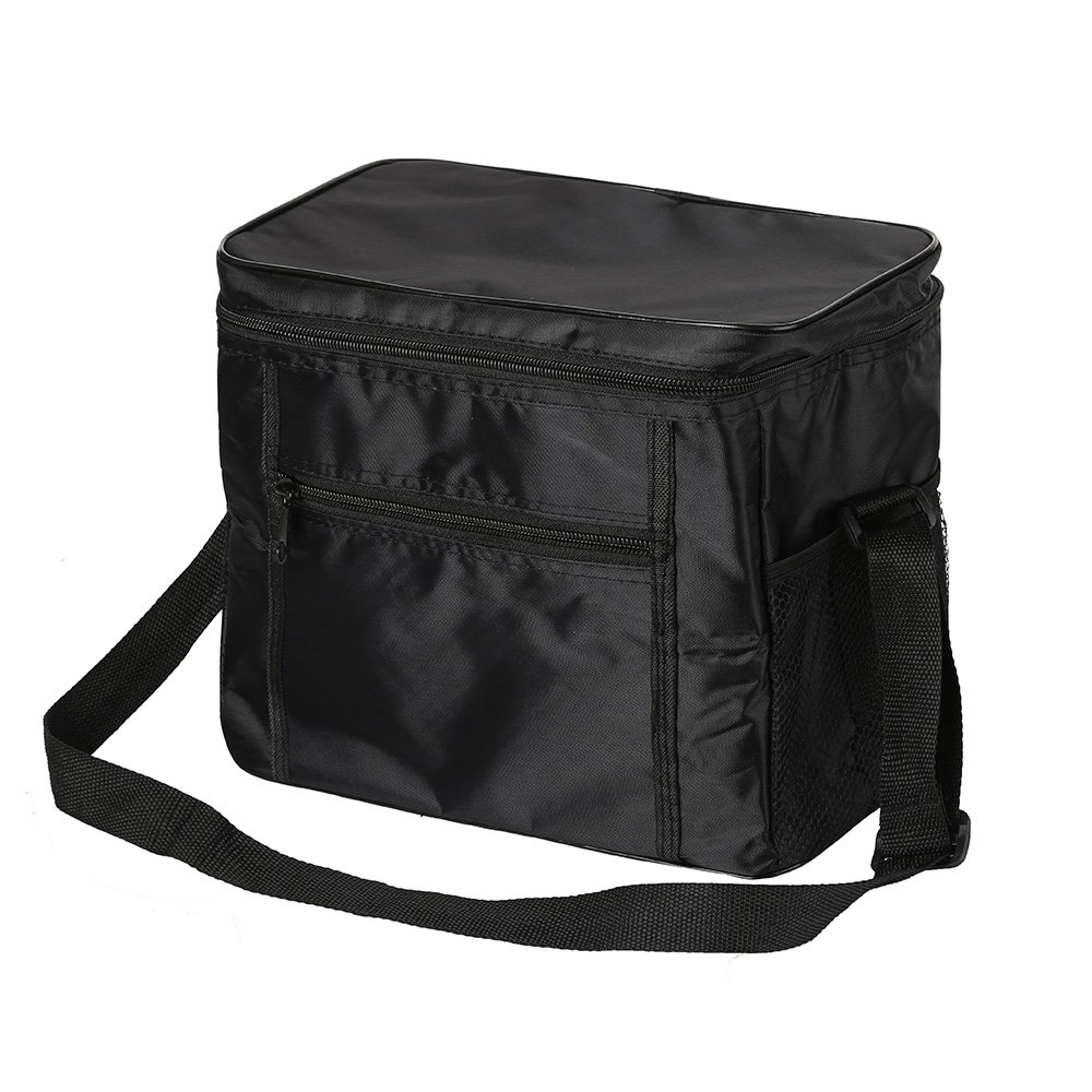 10L Cooler Bags Lunch Box Food Drink Picnic Storage Insulated Cool Bag Travel Kit Black Littleduckling