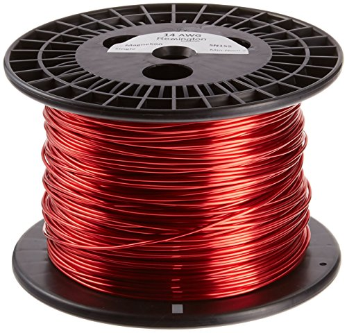 Remington Industries 14SNS Magnet Wire, Enameled Copper Wire, 14 AWG, 5.0 lb, 400