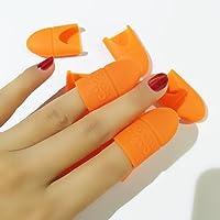 Coscelia 10 pc Silicona Nail Art Belleza Equipo Soak Off Cap Clip Gel UV Nail Polish Remover (Naranja;)
