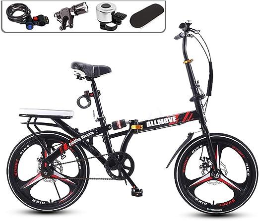 BOT Bicicleta Plegable, 16/20 Pulgadas Plegable Individual ...