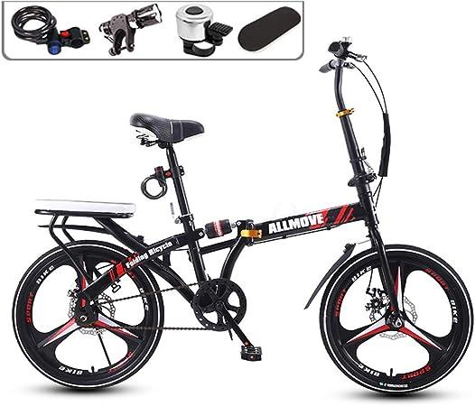 TXTC 16 / 20en Bici Plegable For Los Viajeros Adultos De Peso Ligero De Acero Al Carbono De 7 Velocidades For Bicicleta Mujer Velocidad Bike City Mini Compacto For Bicicleta Urbanos: Amazon.es: Hogar