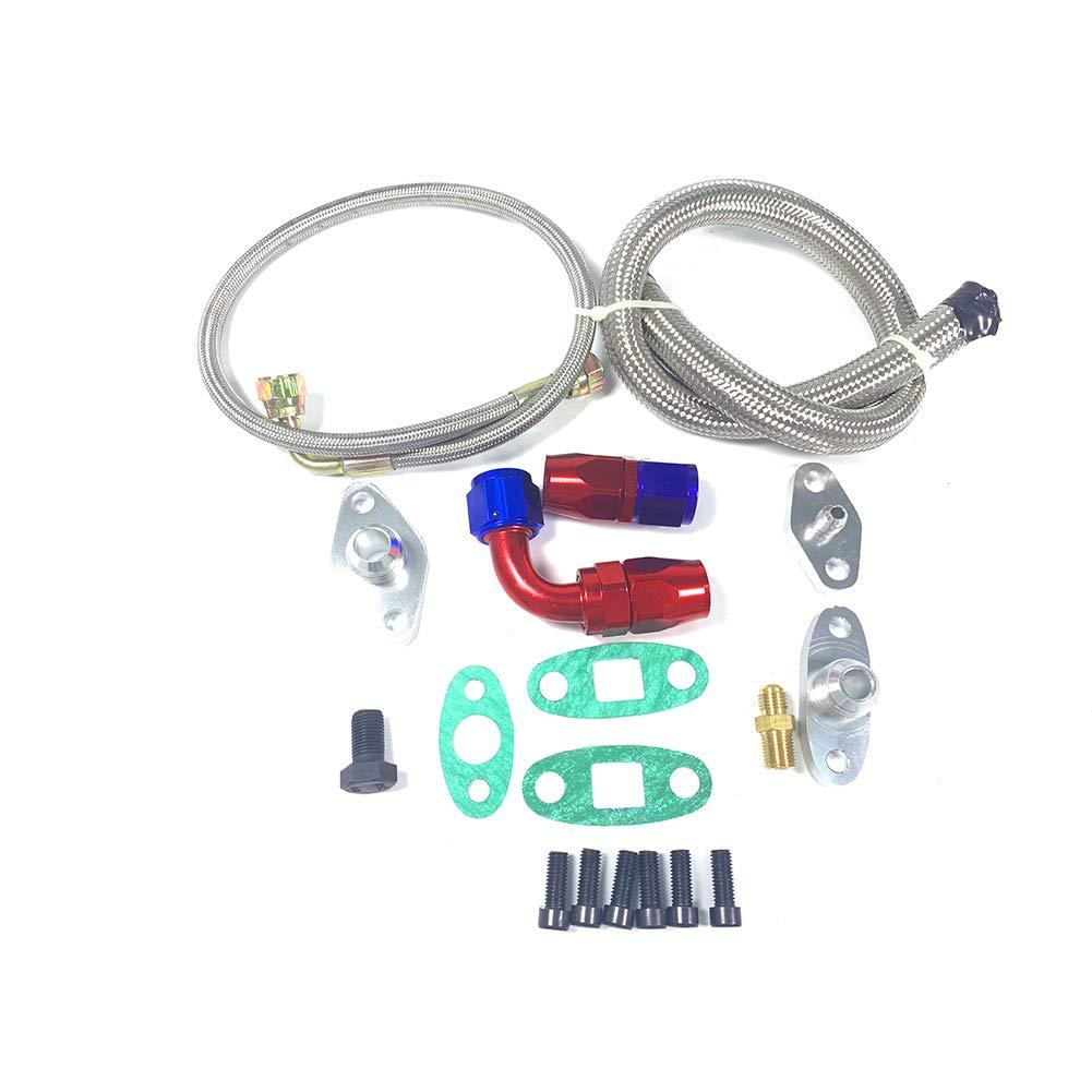 Single Turbo Oil Feed Line Kit Flange For Toyota Supra 1JZGTE 2JZGTE 1JZ//2JZ