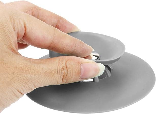 Depory 4 Pezzi Stopper Tappo per Vasca da Bagno Universale Tappo per lavello da lavandino Bagno in TPR in Gomma Tappi di aspirazione per lavabo per cucine Bagni