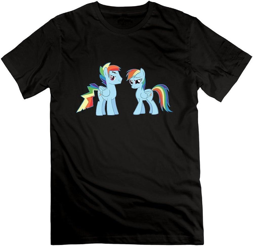 Pony Fashion Men's Rainbow Dash T Shirts Black