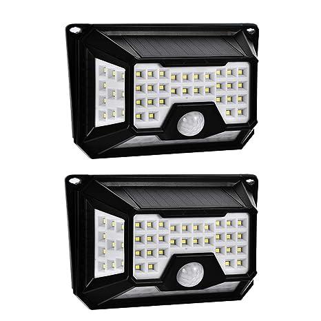WZTO Foco Solar Exterior, 650LM 66 LEDS Luz Solar Jardín 3 Modos Impermeables IP65 Sensor