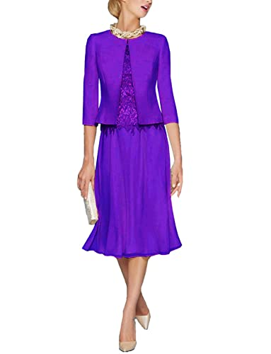 Danadress Women's 2017 Chiffon Lace A-Line Mother Of The Bride Dresses With Jacket 03