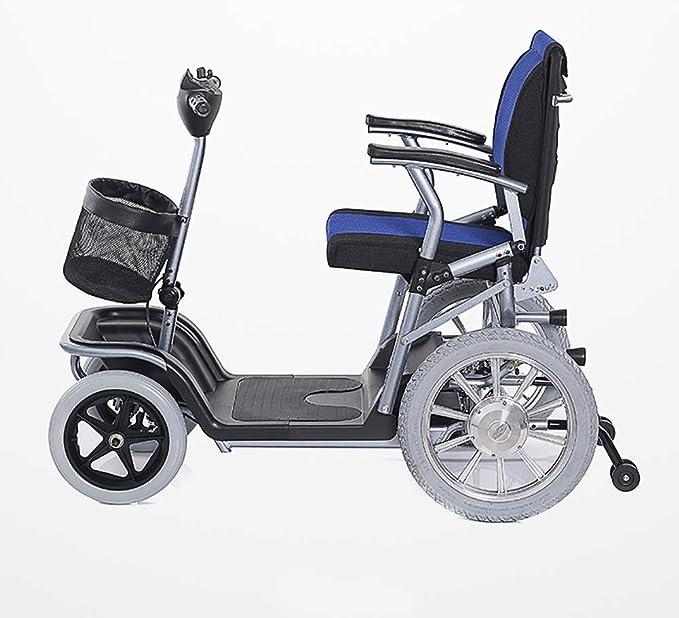 CSCR Scooter Portátil De Movilidad, para Los Ancianos Y Discapacitados Plegables Scooter De Arranque para Coche Batería De Litio De 20 Amperios -Seguro 30 ...