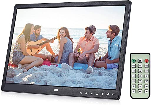 s61Ylu 15 inch Digital Picture Photo Frame 1280x800 HD Resolution 16:9 Wide Picture Screen Clear and Distinct Display Black US Plug