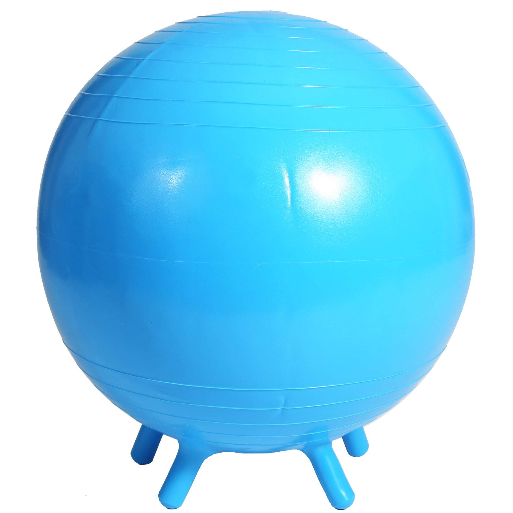 Fun and Function's Chair Ball for Flexible School Chair, Active Classroom Desk Seating with Stay-Put Stability Legs - 21 inch - Blue
