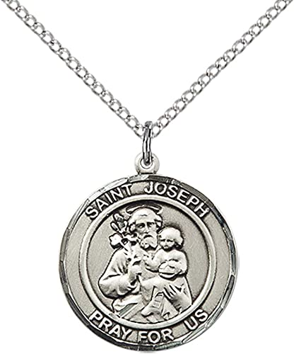 Sterling Silver St 18 Chain Joseph Pendant