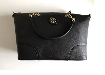 d84c104f4f7 Image Unavailable. Image not available for. Color  Tory Burch 40911  Whipstitch Logo Small Slouchy Satchel