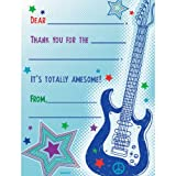 Rock Star Fill In Thank You Notes 8/Pkg