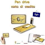 PEN DRIVE MODELLO CREDIT CARD CARTA DI CREDITO AMERICA EXPRESS CHIAVETTA PENNA USB 2.0 (8GB)