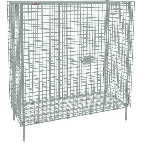 (Metro SEC56C Super Erecta Chrome Plated Heavy Gauge Wire Stationary Security Storage Unit, 62-1/2