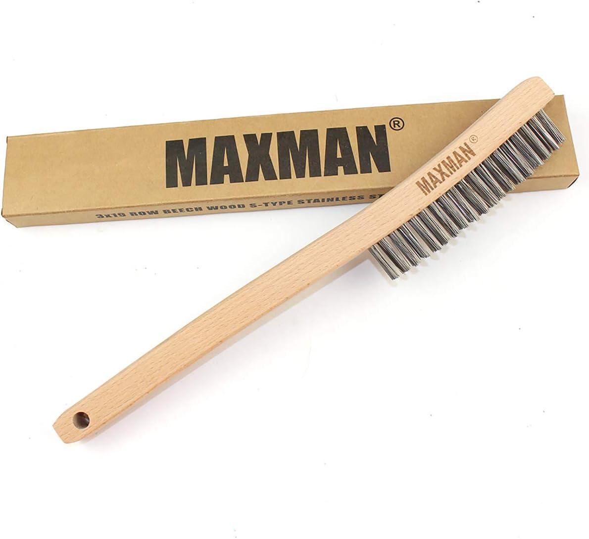 mango de madera Juego de 2 cepillos de alambre quitar el /óxido Ideal para limpiar Nitaar