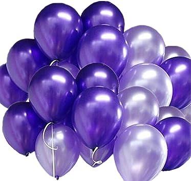 GuassLee 100pcs / Pack Globos Púrpura y Púrpura Ligera ...