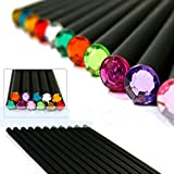 MZD8391 Drawing Pencils/Art Pencils/Sketch Pencils Set, Black Wood-Cased, Beautiful Shining Crystal Tips, #2 HB (12 Count) -- Birthday Gift Idea/Back To School Supplies