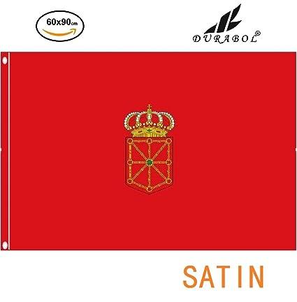 DURABOL Bandera de Navarra Comunidades autónomas de España 60*90 cm SATIN 2 anillas metálicas