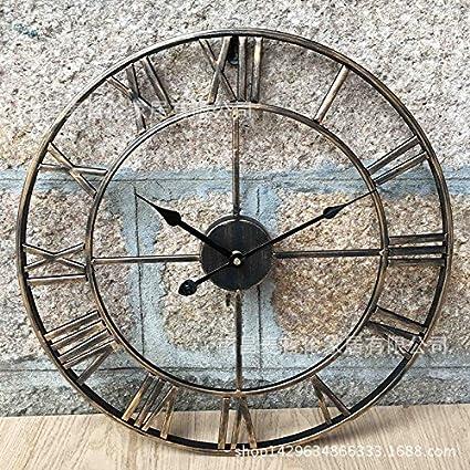 Hueco Metal Mudo Redondo Forja Reloj De Aiar Pared f7gyIYb6v