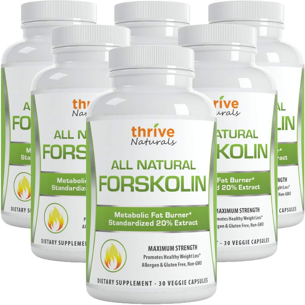 Thrive Naturals Forskolin Advanced Maximum Strength - Promotes Healthy Weight Loss - Metabolic Fat Burner (6)