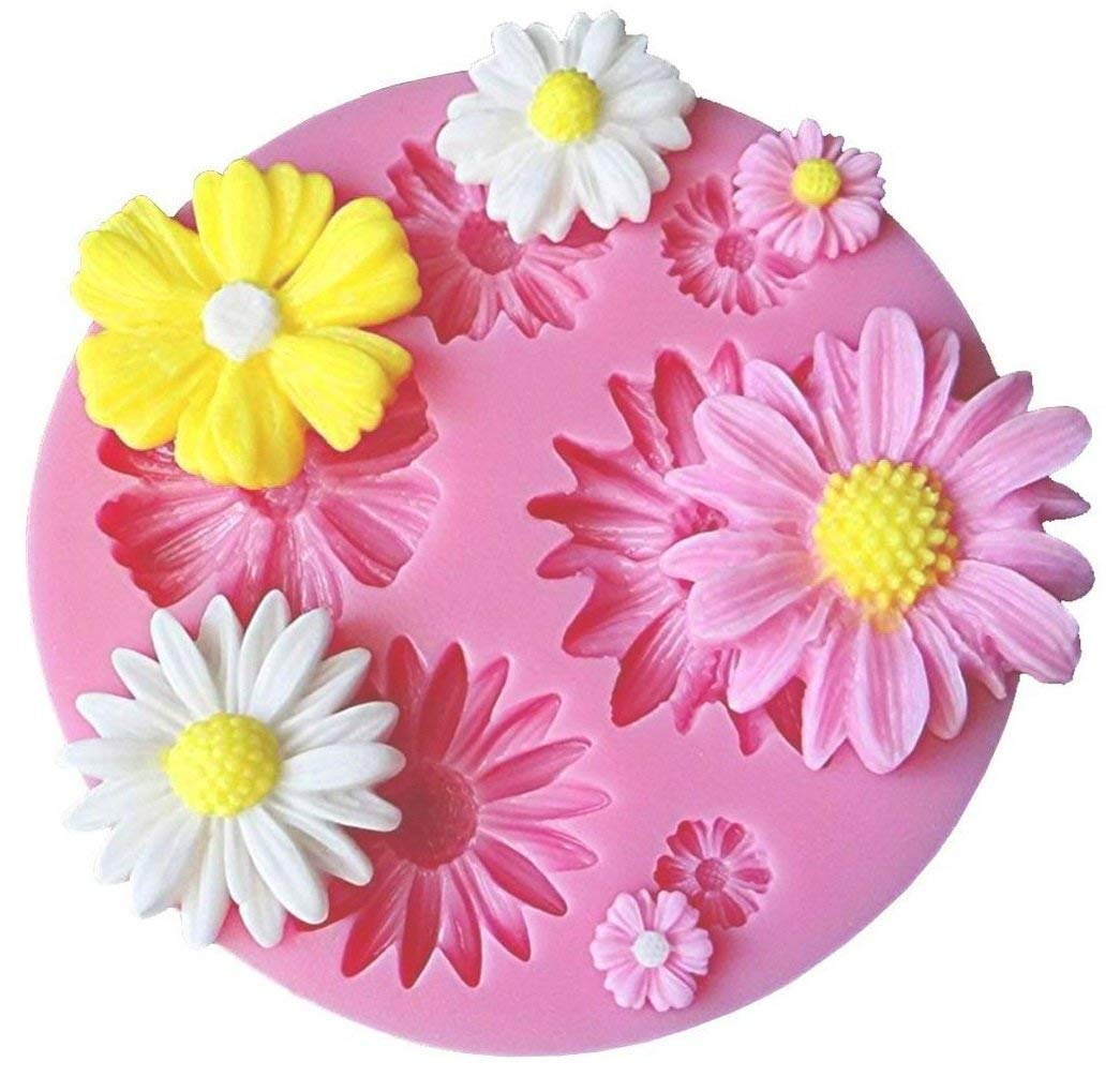 Amazon Flower Fondant Cake Molds 4 Pcs Daisy Flower Rose