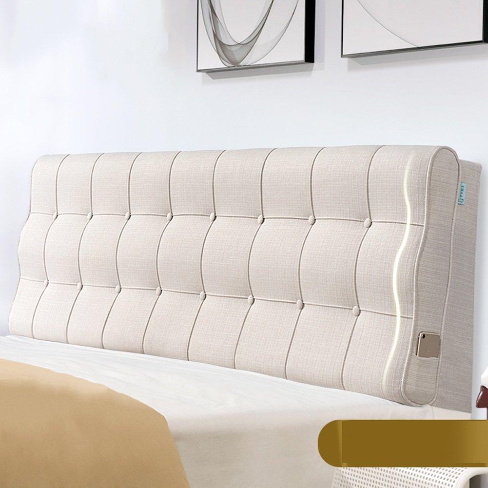 QIANGDA クッション ベッドの背もたれ バックレスト ヘッドボードマット 布クッション アンチコリジョンヘッド 疲労を和らげる ベッドルーム 6ソリッドカラー、 5サイズ 利用可能 ( 色 : クリーミーホワイト , サイズ さいず : 90 x 10 x 60cm ) B07B2GPMRJ 90 x 10 x 60cm クリーミーホワイト クリーミーホワイト 90 x 10 x 60cm