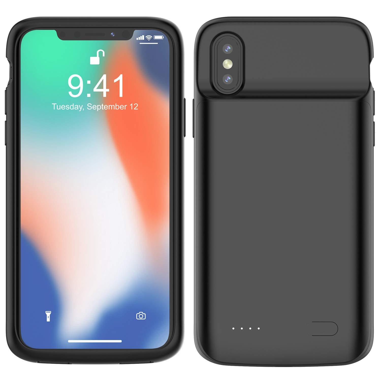 hardwrk Power Case d/ünnen Design 5000 mAh Akkuh/ülle im schlanken Earpods kompatibel Externer Zusatzakku Powerbank kompatibel zu Apple iPhone XS Max