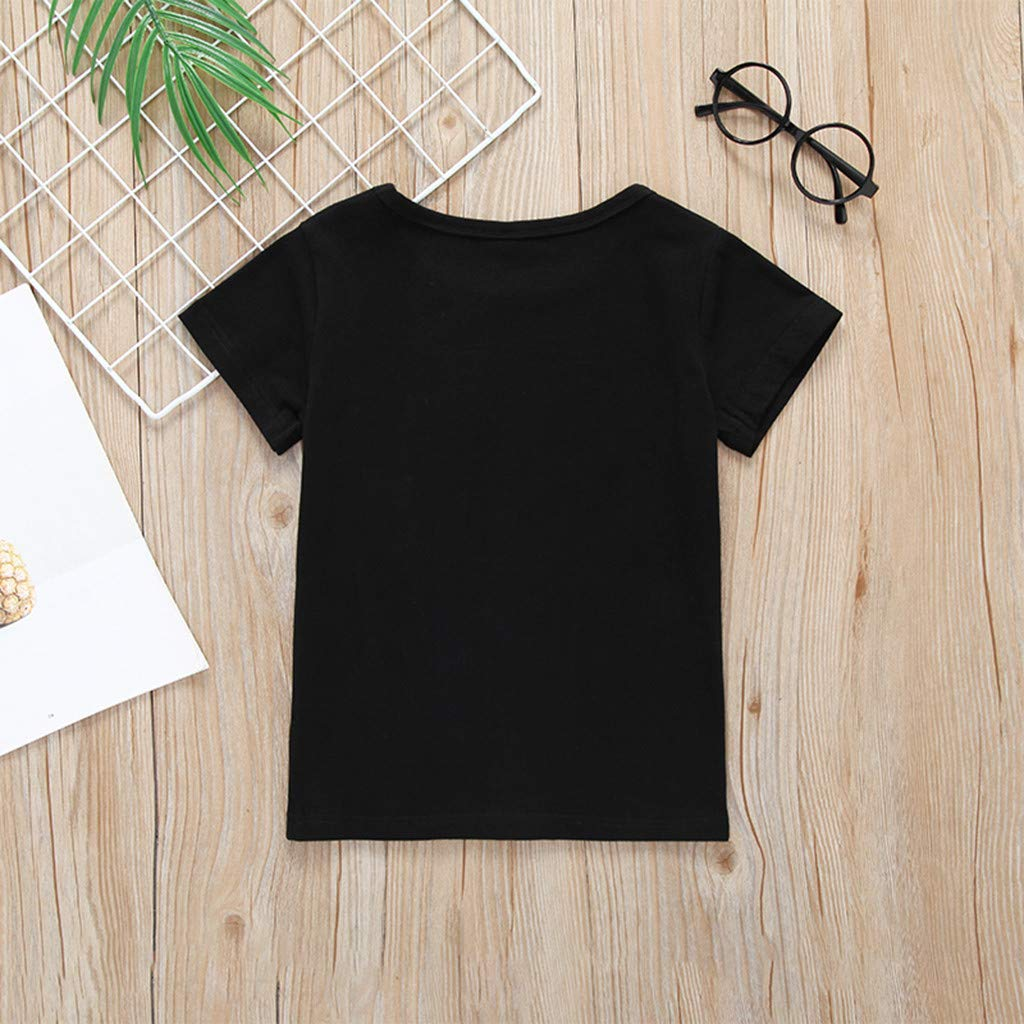 Kids Boys Girls Letter Print Tee Tops Shirt Casual Tshirt WOCACHI Toddler Baby Boy Clothes