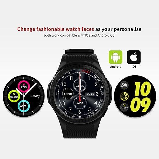 Amazon.com: Walmeck Microwear L1 Smartwatch Watch Phone 1.3inch Round HD IPS Display MTK2503 BT 3.0+4.0 480mAh Battery 0.3MP Camera Heart Rate Sleep Monitor ...