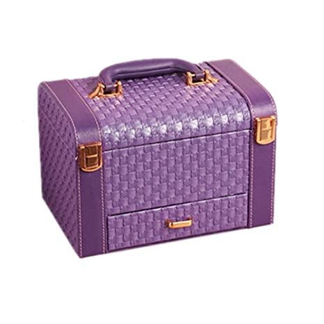 Estuche de maquillaje Caja cosmética portátil púrpura para ...