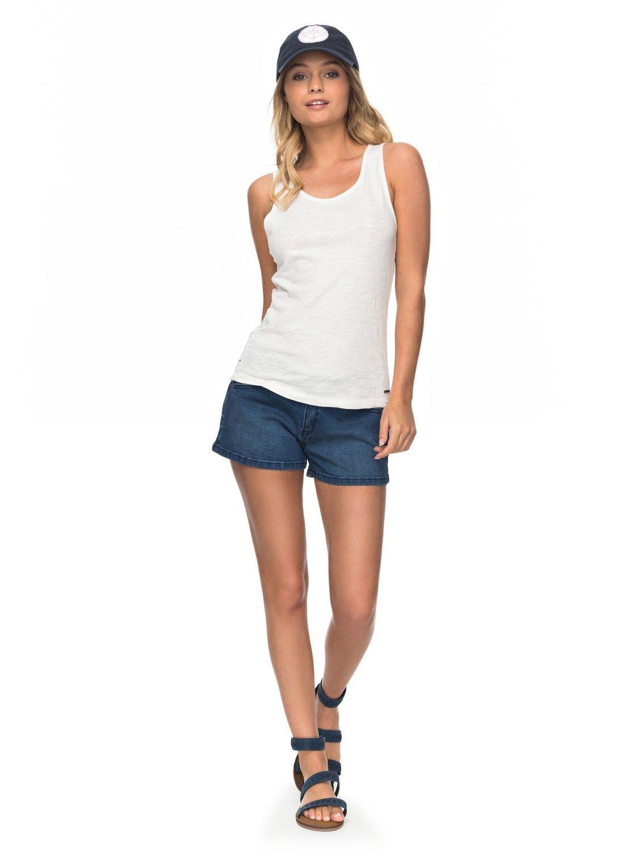 Roxy Womens Seatripper Anchor - Denim Shorts - Women - 28 - Blue Indigo Wash 28