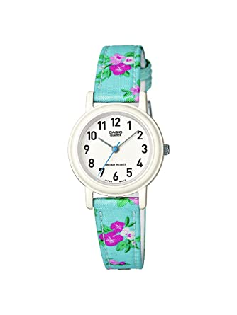 ef7956c32466 CASIO Children s Quartz Watch with White Dial Analogue Display and  Multicolour Other Strap LQ-139LB