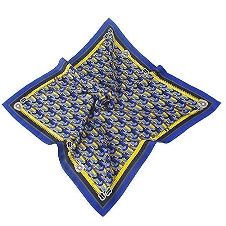 BEEST-Señoras pañuelo de seda Bufanda Bufanda pequeña denim OL ...
