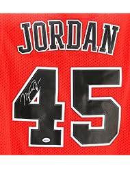 76a9905c903 ... canada michael jordan chicago bulls signed autographed red 45 jersey  49fea 219d8