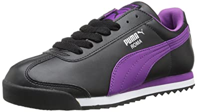 black and purple puma shoes