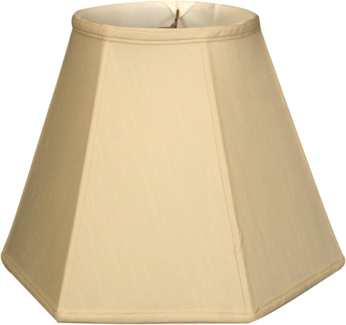 Royal Designs BS-733-18BG Hexagon Basic Lamp Shade, 9 x 18 x 13, Beige