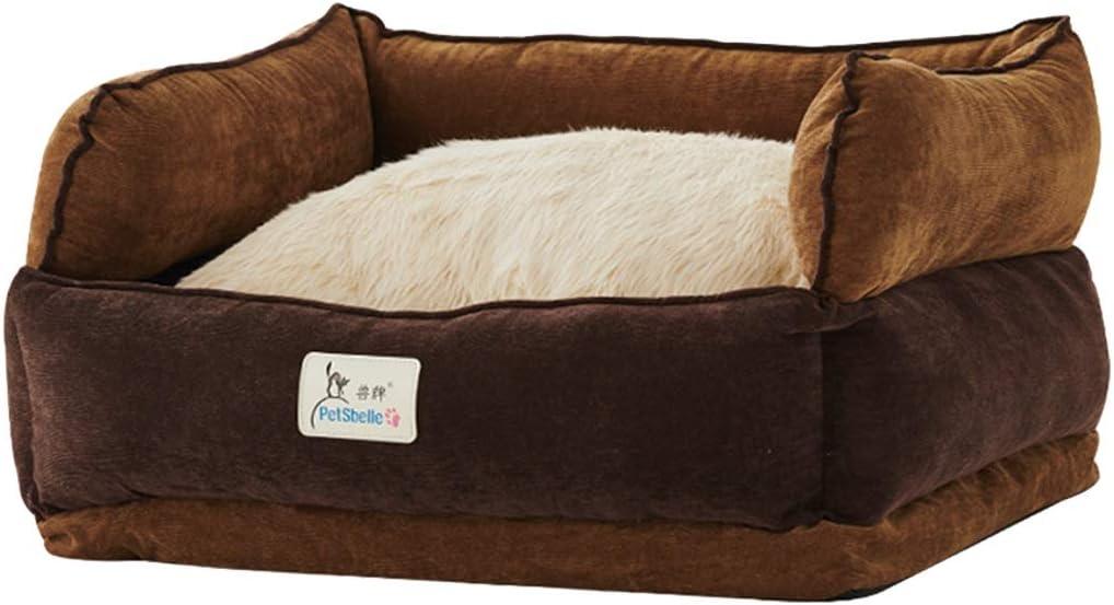 ペットベッド クッション マット ペット用マット、大型犬用犬小屋の猫の家取り外し可能と洗えるペットの巣耐摩耗性かみ傷ペットベッド (サイズ さいず : 60×51×24cm)  60×51×24cm