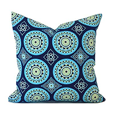 Flowershave357 Blue Outdoor Pillows Outdoor Cushions Outdoor Pillow Covers Decorative Pillows Outdoor Cushion Covers Best Pillow OD Sundial Navy: Kitchen & Dining