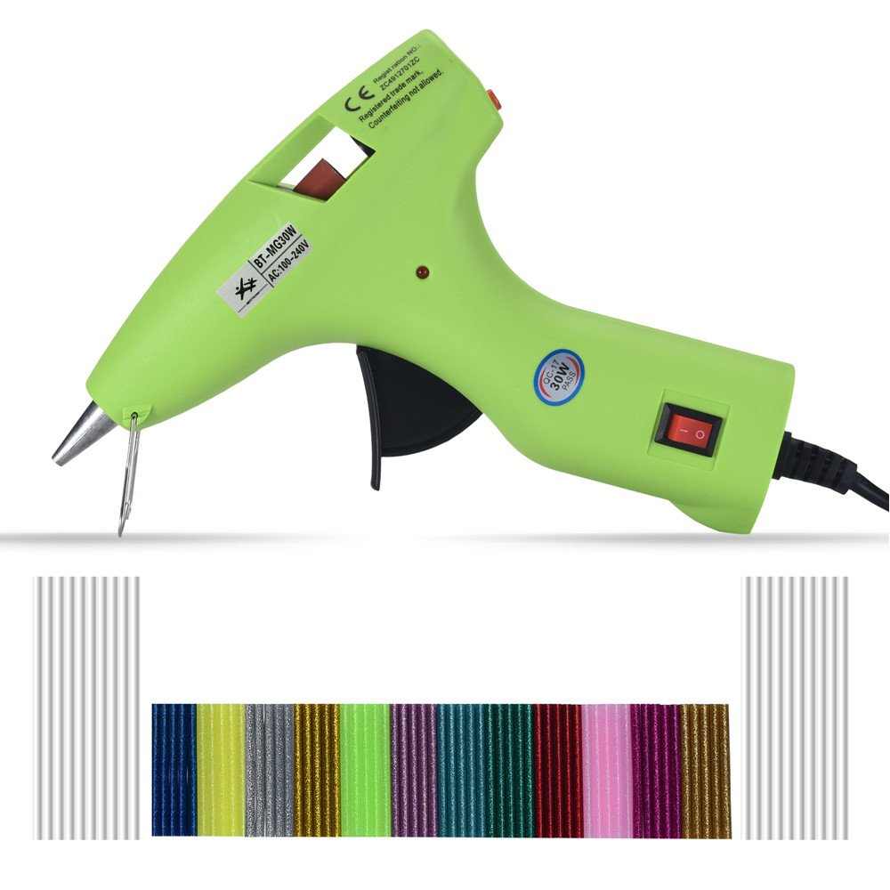 Hot Glue Gun kits - 30 Watt with 80pcs Glue Sticks, 100% Safe - Energy Efficient, for DIY Arts & Crafts, Sealing and Quick Repairs BESTEAM 4336847633