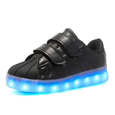 331a9d1bc4 Image Unavailable. Image not available for. Color: PLAN B LED Light Shoes  USB Children's Shoes Boys and Girls Magic Board ...