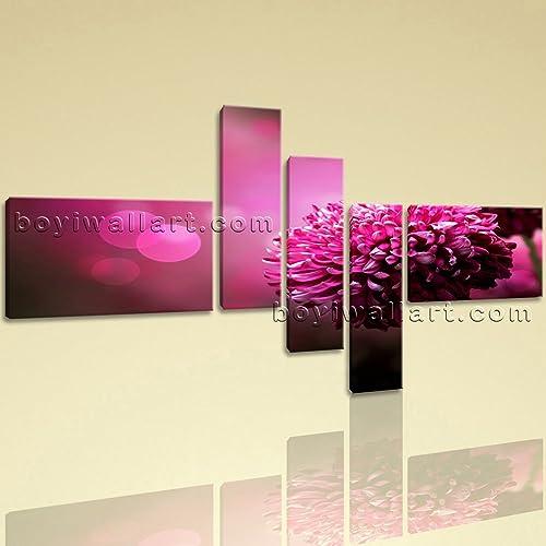 Amazon.com: Huge Purple Daisy Flower Canvas Art Painting Living Room ...