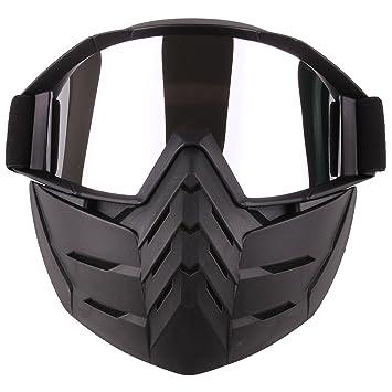 Mecotech Mascara Airsoft Máscara Facial Táctica Con Protector Gafas para Nerf, Moto, Paintball,