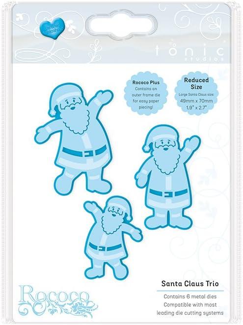 SANTA CHRISTMAS SCRAP PAPER EMBOSSED ENGLISH ORNAMENT  TOYS MUSICAL MACHE CARD
