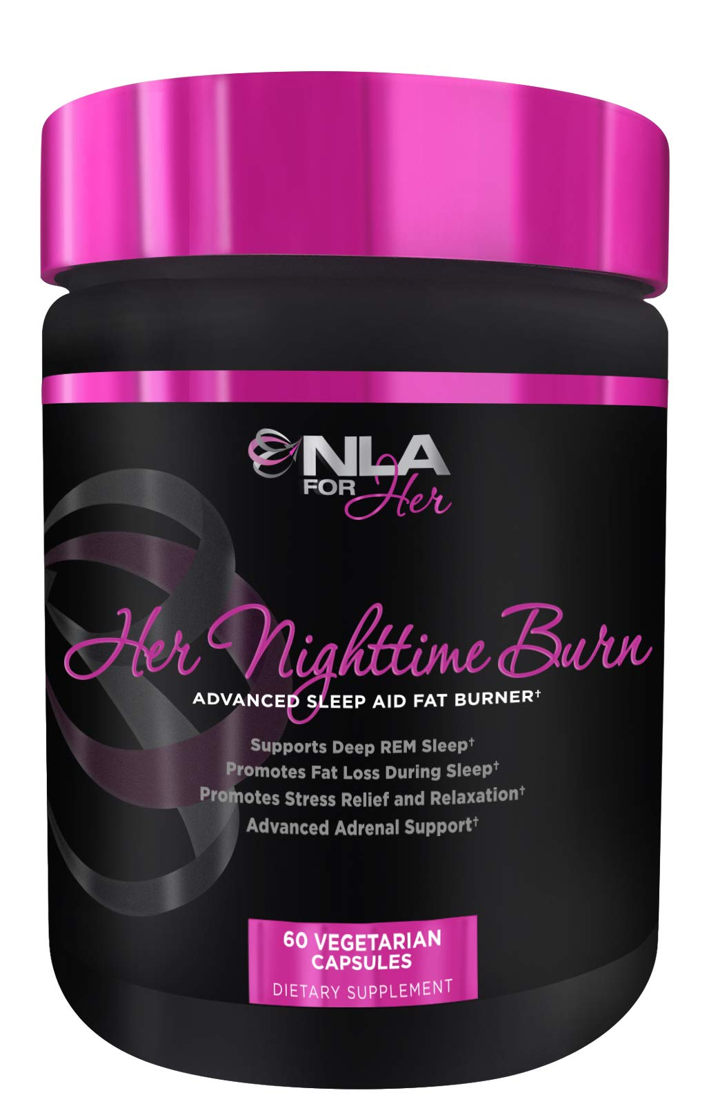 NLA for Her- Her Nighttime Burn-Sleep Aid and Fat Burner for Women-Promotes Better Sleep, Relaxtion, Weight Loss, and Stress Relief- Melatonin, CLA, Ashwagandha, 5 HTP, Chamomile- 60 Veggie caps