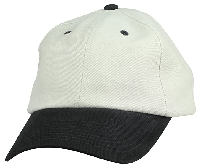 9727447f575 Mens Blank Hat Heavy Brushed Cotton Ball Cap in Stone Gray Black Adjustable  Plain