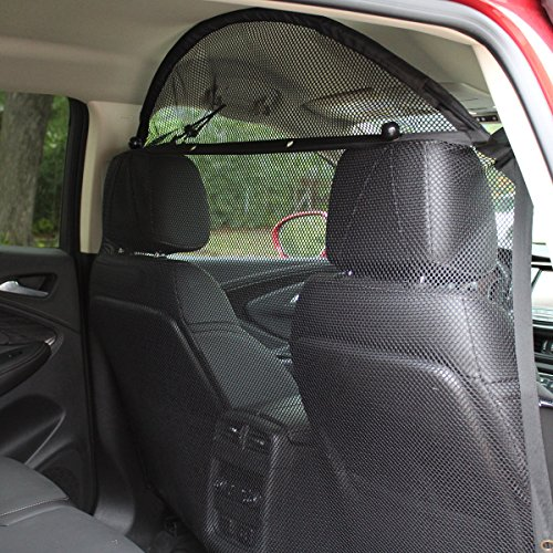 "Pet Net Vehicle Safety Mesh Dog Barrier - 49""W for SUV / Car / Truck / Van - Fits Behind Front Seats"